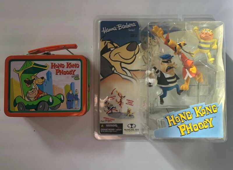 2006 Hong Kong Phooey McFarlane Fig w/bonus Tin Lunchbox Both Items In Good Shap