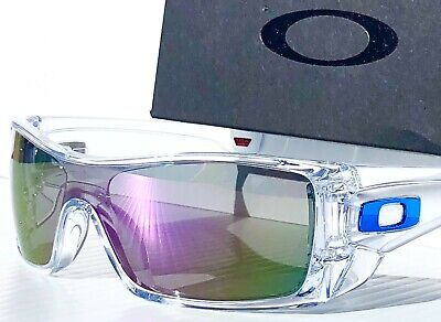 NEW* Oakley BATWOLF CLEAR w POLARIZED Galaxy VIOLET 2 lens set Sunglass 9101