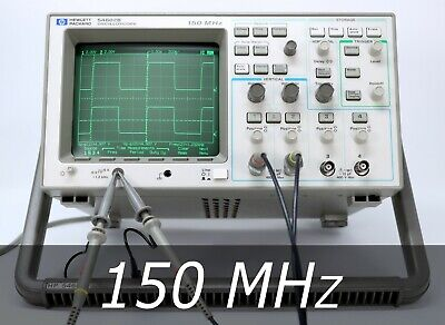 Hp Agilent 54602b 4-channel 150 Mhz Oscilloscope 2 New Probes. Very Clean