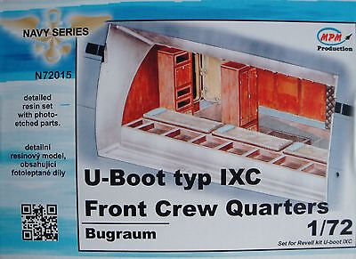 """MPM N72015 Detail Resin Set """"Front Crew Quarters"""" for Revell® U-Boot IXC in 1:72"""