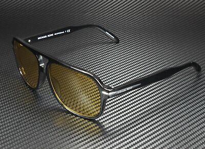 MICHAEL KORS MK2115 300585 Liam Black Amber Solid 59 mm Men's Sunglasses
