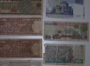 REDUCED 17 Assorted Canadian USA,Italian Mexican paper currency, Cornwall Ontario image 8