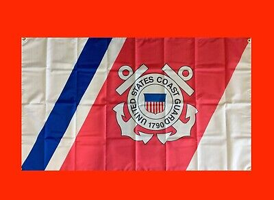 State Flag Poster Banner (LARGE United States Coast Guard Banner Flag)