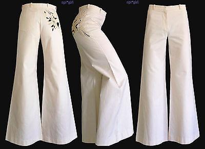 Nwt Chloe Net A Porter Off White Ivory High Waist Pants Trousers 2 36 Tall Long