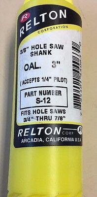 Relton 3/8'' Hole Saw Shank