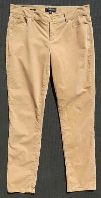 TALBOTS Signature Pants Stretch Velvet Slim Skinny 5 Pocket Jeans Beige 10 M EUC Velvet 5 Pocket Pants