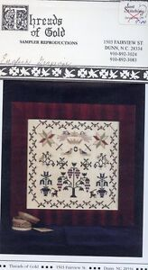 English Grapevine Sampler Threads of Gold Cross Stitch Pattern Leaflet NEW