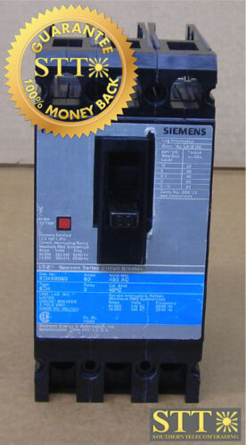 Ed43b060 Siemens I-t-e Sentron Series Type Ed4 Circuit Breaker 60a 480vac 3-pole