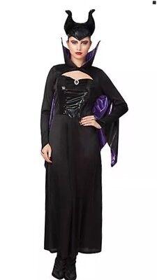 Disney Female Villains Costumes (Adult Disney Villains Maleficent Fancy Dress Costume 16 - 18)