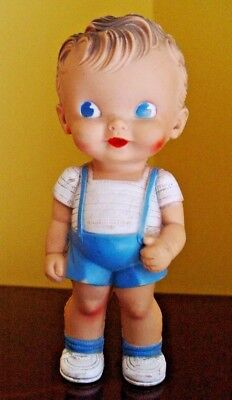 Ruth E. Newton Doll,  The Sun Rubber  Co.  Adorable Boy Dressed In Blue