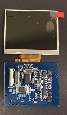 "3.5"" 320x240 Tianma LCD Screen Display Panel TM035KDH03 w Controller Board Cable"