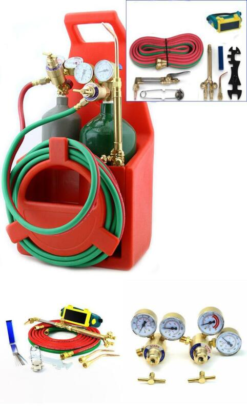 Torch Kit Victor Type Welding Cutting Oxygen Acetylene Tote Car Portable Carrier