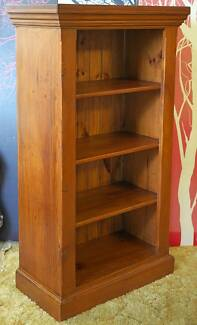 Distressed Timber 4bay Bookcase