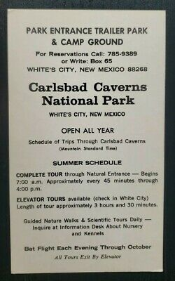 Vintage Postcard~ Advertisement~ Carlsbad Caverns~ White City, New Mexico~ P906