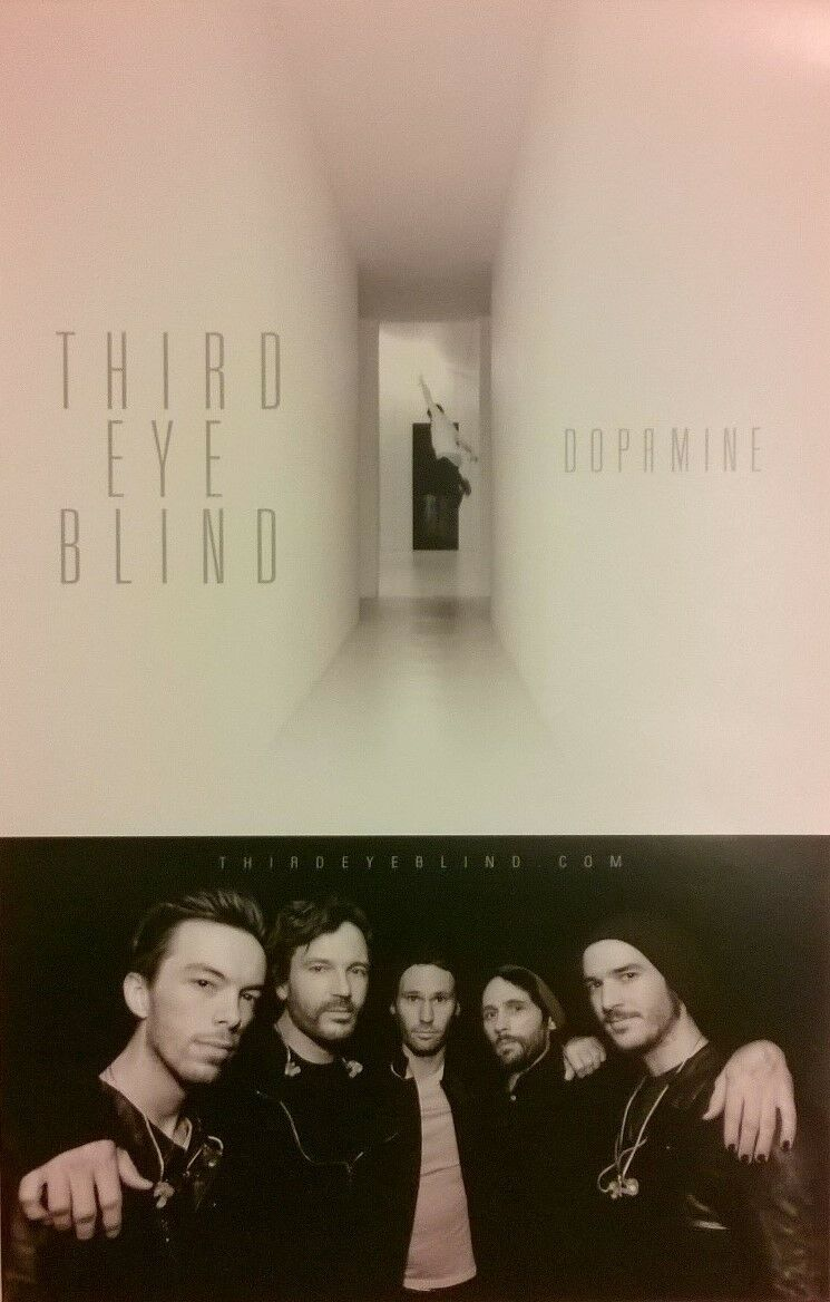 "THIRD EYE BLIND - DOPAMINE ALBUM 2016 PROMO POSTER 11"" x 17"" b&w 3rd 90s music"