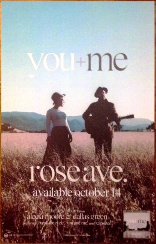 YOU+ME (P!NK) Rose Ave Ltd Ed Discontinued RARE New Poster +FREE Folk Pop Poster