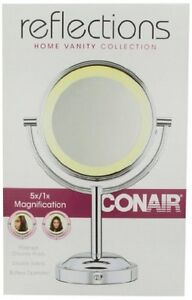 New Conair BE4NW Classique Double-Sided Lighted Makeup Mirror with 5x Magnificat