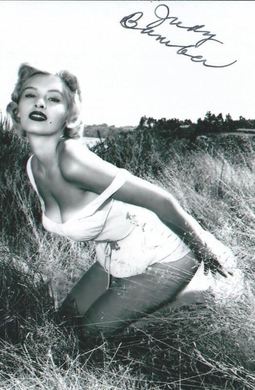 Judy Bamber autographed Pin Up Model Actress Bucket of Blood RARE COA LOOK!!