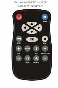 Remote-control-ZaapTV-209-309-Jadoo2-TV-MaaxTV-ln3000-Planet-itv-FreeShipping