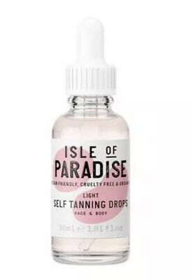 Isle Of Paradise Light Self Tanning Drops 30 ml Organic Vegan Cruelty Free