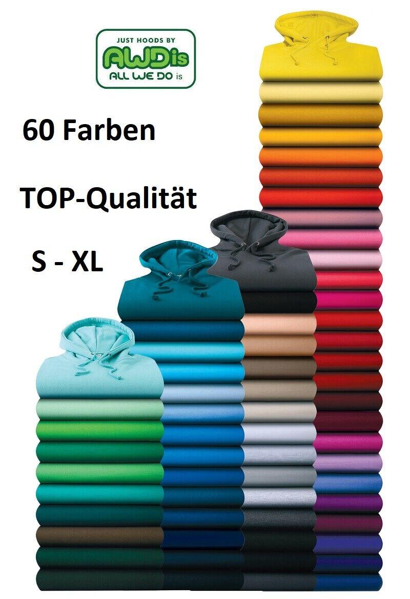 Just Hoods AWDis Hoodie Pullover Sweatshirt mit Kapuze  S M L XL 60 Farben SALE!