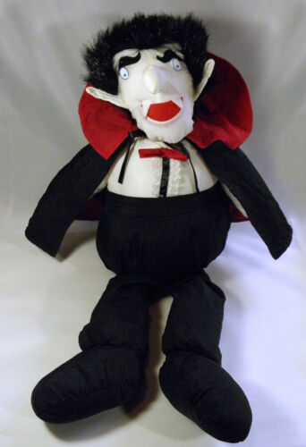 "Halloween Vampire Puffalump Plush 22"" Large Stuffed Toy Count Dracula Vlad VTG"