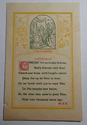 1918 CHRISTMAS GREETING HOLY TRINITY CHURCH GREENSBORO NORTH CAROLINA ()