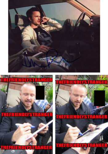AARON PAUL signed Autographed 8X10 PHOTO H - PROOF - BREAKING BAD Westworld COA
