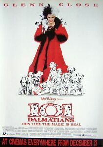 Original-1997-Film-Advert-101-DALMATIANS-Glenn-Close-Vintage-Movie-Print-Ad