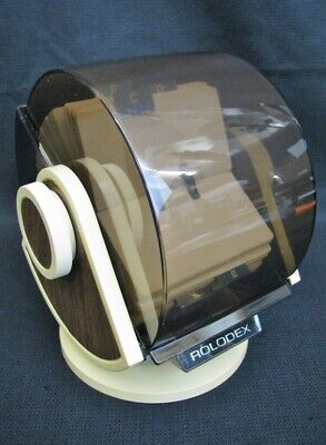 Vintage Rolodex Rotary Business Card File W Swivel Base Model No. Sw-24c