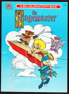 Coloring Activity Book~ THE PAGEMASTER ~1994 ~Macaulay Culkn ~Golden