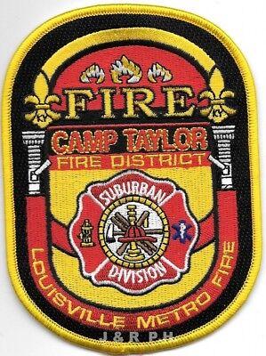 "Camp Taylor Fire District / Louisville, Kentucky (3.5"" x 5"" size)  fire patch"