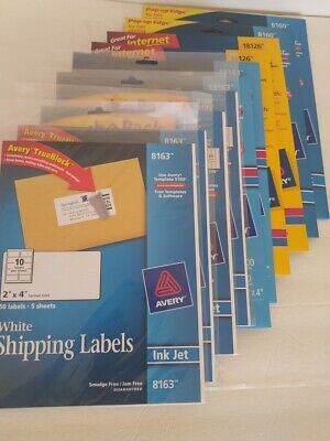 2000 Avery Address Shipping Laser Inkjet Labels 8163 8160 8195 18163 18126