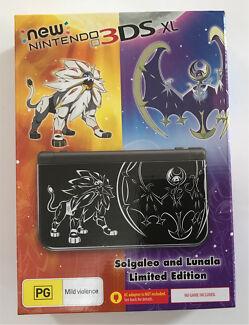 New Nintendo 3ds xl solgaleo lunala  edition pokemon sun moon new