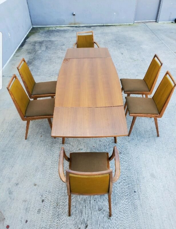 RARE MID CENTURY MODERN GERMAN DINING SET