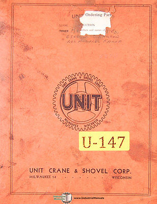 Unit Crane And Shovel Maintenance And Operations Manual