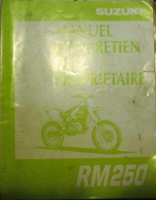 * SUZUKI RM250 RM 250 - 1996  -  Manuel d ´entretien Manual  francais *