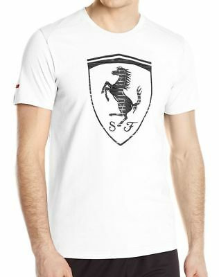 Puma Men's Premium Sport Ferrari Big Logo F1 Team Tee T-Shirt White 570681 ()