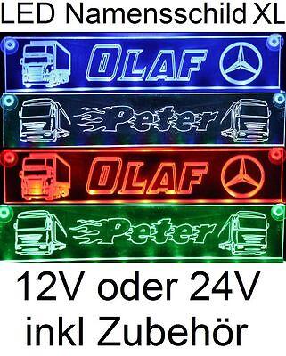 XL LED Namensschild - LKW Truckerschild - 12/24V DAF SCANIA MAN RENAULT IVECO