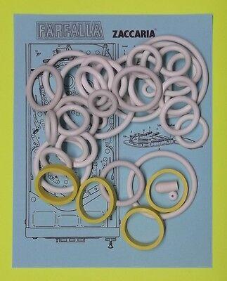 1983 Zaccaria Farfalla pinball rubber ring kit for sale  Eustis
