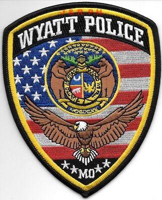 "Wyatt, MO (4"" x 5"" size) shoulder police patch (fire)"