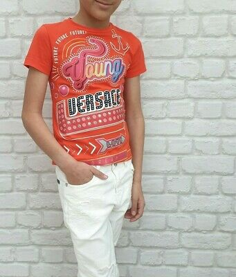 NEW Young Versace RRP £119 Designer AGE 5 YEARS T shirt Top Boys Girls Kids A302