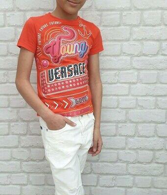 NEW Young Versace RRP £119 Designer Unisex T shirt Top Boys Girls Kids A302