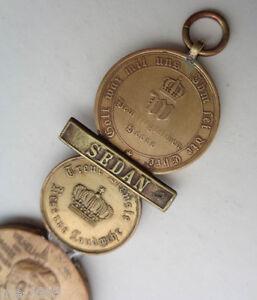 original   Preußen 1870-71   Erinnerungsstück aus Medaillen + Spange Sedan