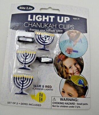 Light Up Chanukah Clips Menorah Symbol