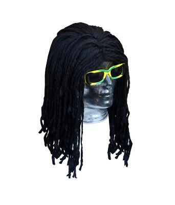 Super Rasta Reggae Jamaika Afro Perücke - Schwarz Dreadlocks