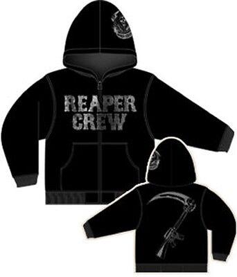 Sons of Anarchy Reaper Crew Adult Zip Up Hoodie Sweatshirt - Officially Licensed