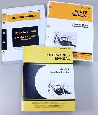 Service Manual Set For John Deere 310b Backhoe Parts Owner Tech Repair Operator