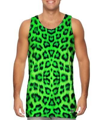 Yizzam- Neon Green Leopard Animal Skin - New Men Tank Top Tee Shirt XS S M L XL
