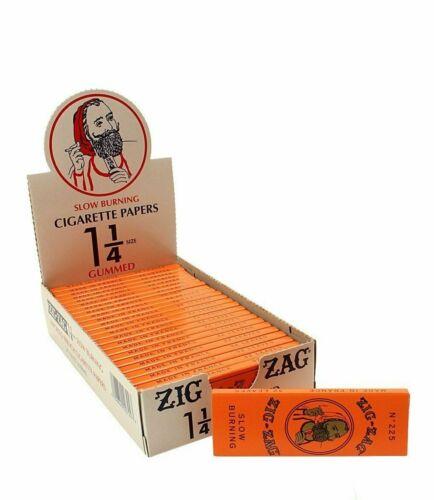 24pk - Zig Zag Orange Slow-Burning 1 1/4 Rolling Papers